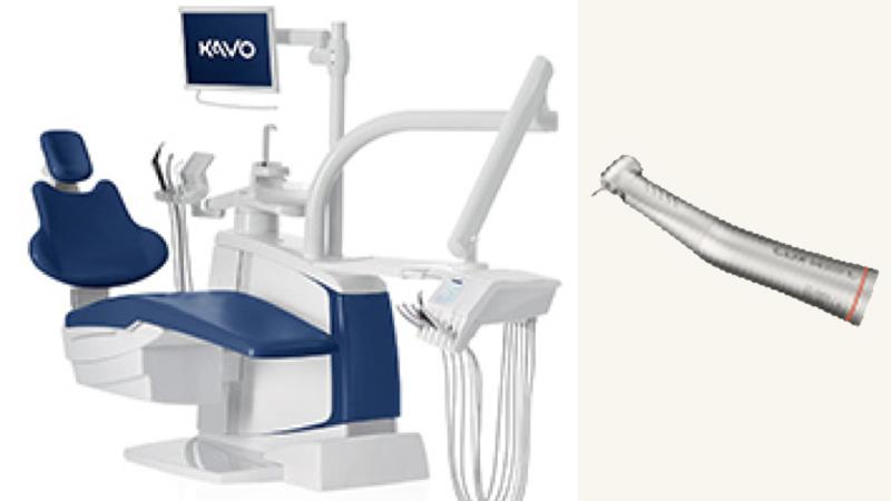 精度を高める為に歯を削る為の道具やイス、見るためのメガネも高性能な外国製の物を使っています。