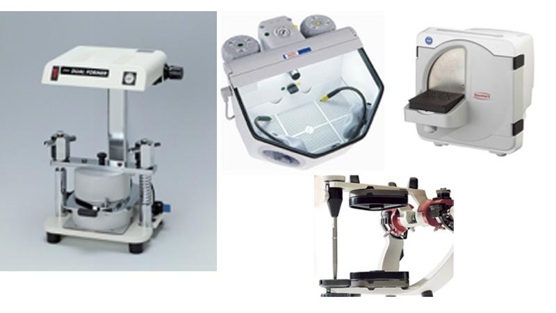 精度を高める為に買い揃えた一般的な歯科医院にはない外国製の技工機材達