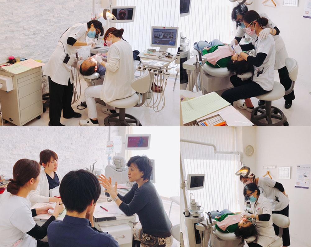 当院ではフリーランスの丸尾先生という方に定期的に来ていただき、歯周病治療の技術を磨いてもらっています。